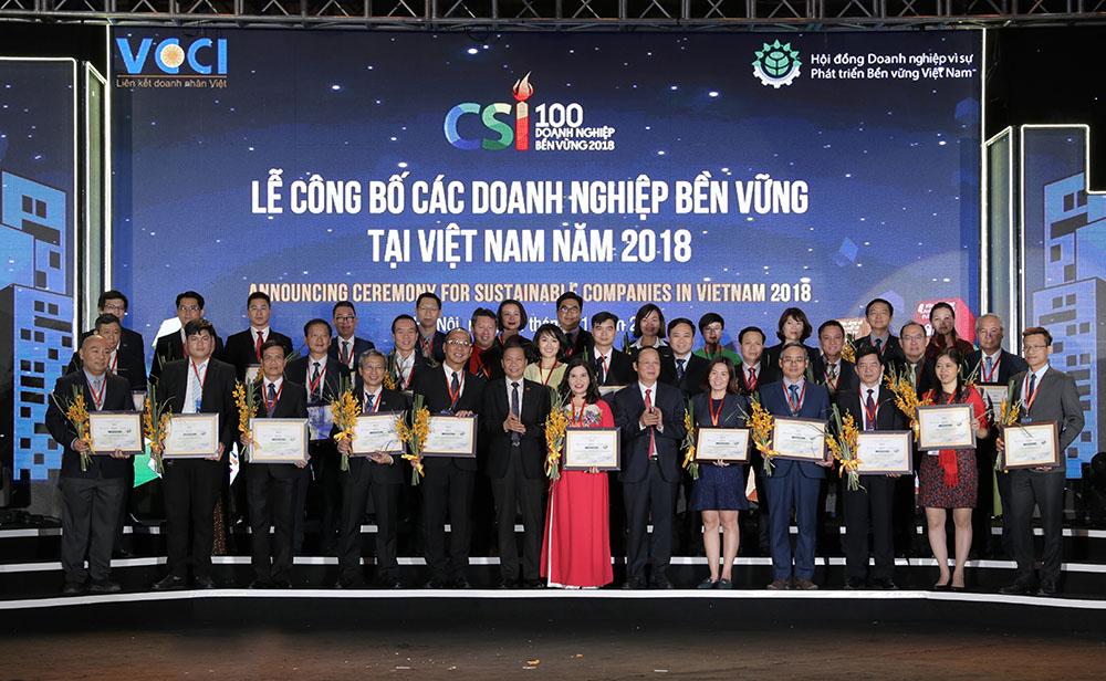 Các doanh nghiệp bền vững 2018 được vinh danh tại chương trình