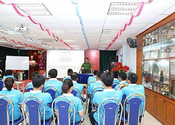 Tập huấn công tác phòng cháy, chữa cháy năm 2018