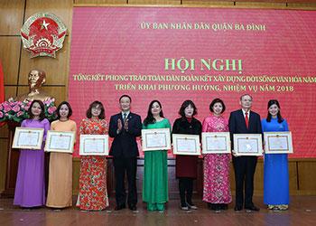 """Dược phẩm Tâm Bình được công nhận """"Đơn vị đạt chuẩn văn hóa"""" quận Ba Đình"""