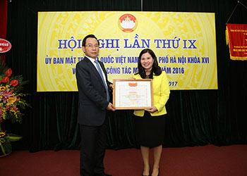 TGĐ Công ty Dược phẩm Tâm Bình được nhận bằng khen của Ủy ban MTTQ Việt Nam