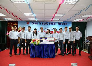 """CBNV công ty Dược Phẩm Tâm Bình ủng hộ Quỹ """"Vì Trường Sa thân yêu"""""""