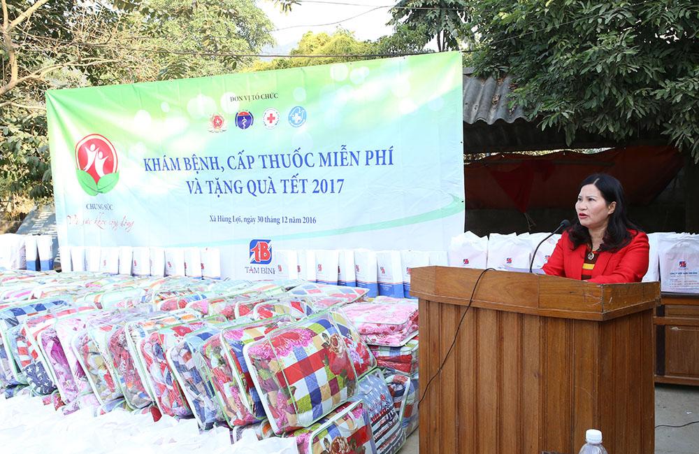 TGĐ Lê Thị Bình phát biểu