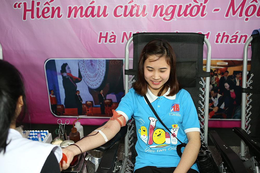 Bạn Lê Thị Thanh Mai, nhân viên phòng Hành chính nhân sự