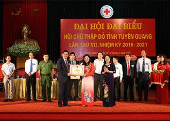 """Dược phẩm Tâm Bình được vinh danh """"Tấm lòng vàng"""" tại ĐHĐB Hội CTĐ tỉnh Tuyên Quang"""