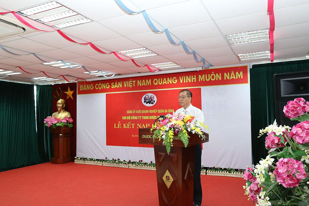 Đồng chí Nguyễn Thế Hùng, Bí thư Chi bộ Công ty TNHH Dược Phẩm Tâm Bình