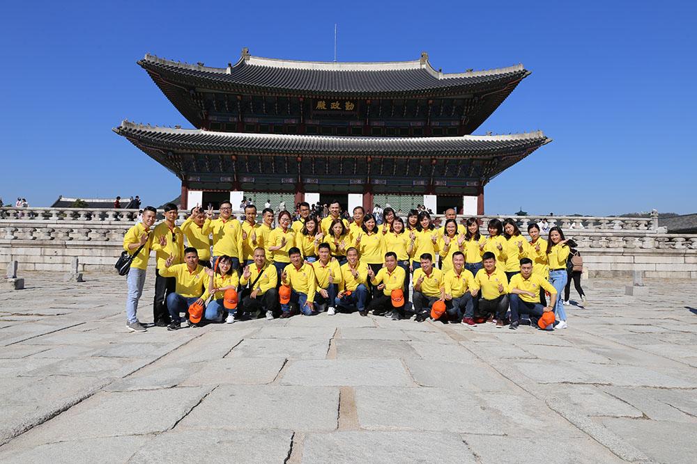 Đoàn Dược Phẩm Tâm Bình tham quan cung điện hoàng gia Gyeongbok