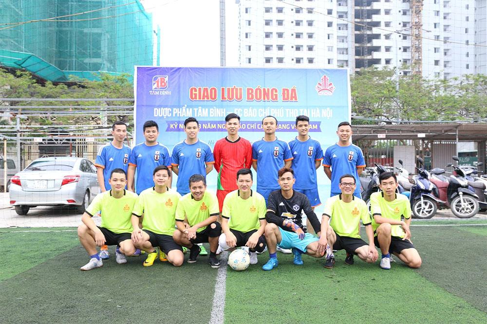 Đội hình ra sân của FC Tâm Bình và FC Báo chí Phú Thọ tại Hà Nội