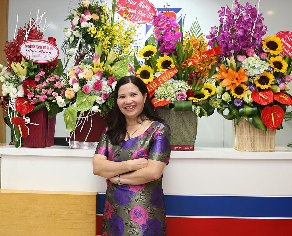 Dược sĩ Lê Thị Bình – TGĐ Công ty Dược phẩm Tâm Bình