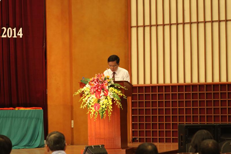 Ông Hoàng Trọng Quyết - Bí thư Quận ủy Ba Đình phát biểu tại hội nghị