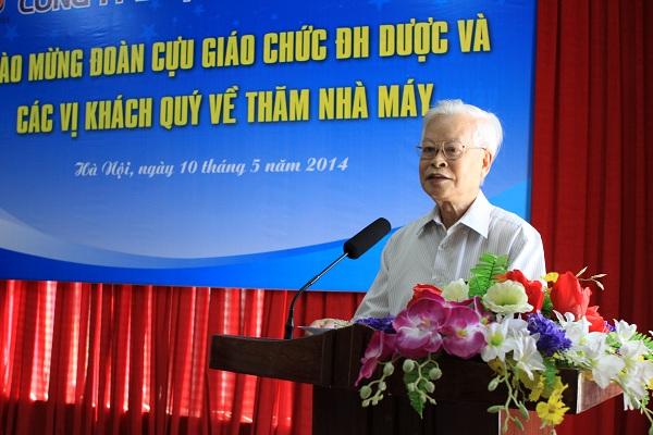 PGS.TSKH.NGND Trần Công Khánh phát biểu tại buổi gặp mặt