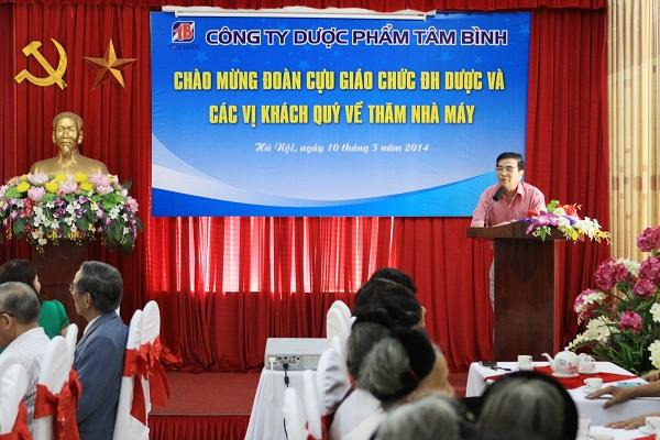"""PGS.TS Nguyễn Huy Oánh nhận xét:"""" Ds. Lê Thị Bình là tấm gương sáng cho thế hệ sinh viên trường Dược học tập"""""""