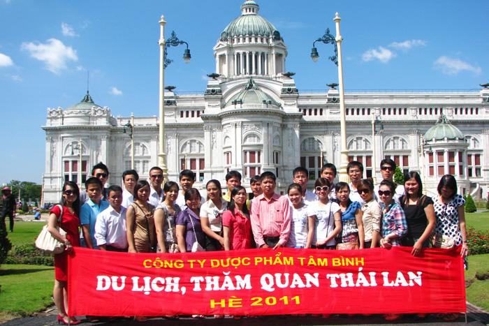 Công ty Dược phẩm Tâm Bình tổ chức cho CBCNV Công ty du lịch Thái Lan