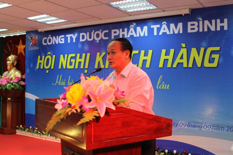 Ông Nguyễn Thế Tin - Phó Chủ tịch Hội Dược học Việt Nam phát biểu tại Hội nghị