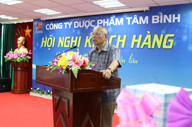Bác Phạm Quy - Bệnh nhân đã chữa khỏi bệnh Đại tràng nhờ Đại tràng Tâm Bình bày tỏ lòng cảm ơn tới Công ty