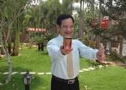 Ảnh hậu trường nghệ sĩ hài Quang Tèo quay TVC hợp tác với Tâm Bình