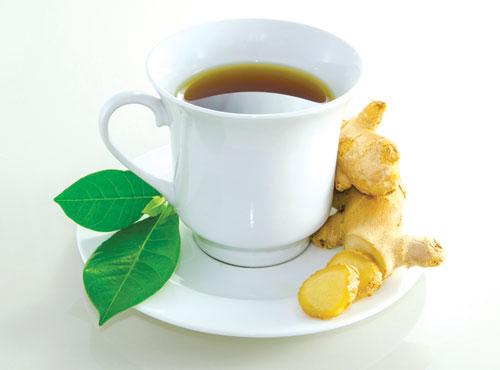trà gừng giúp giải cảm, tiêu thực, tiêu hóa thức ăn