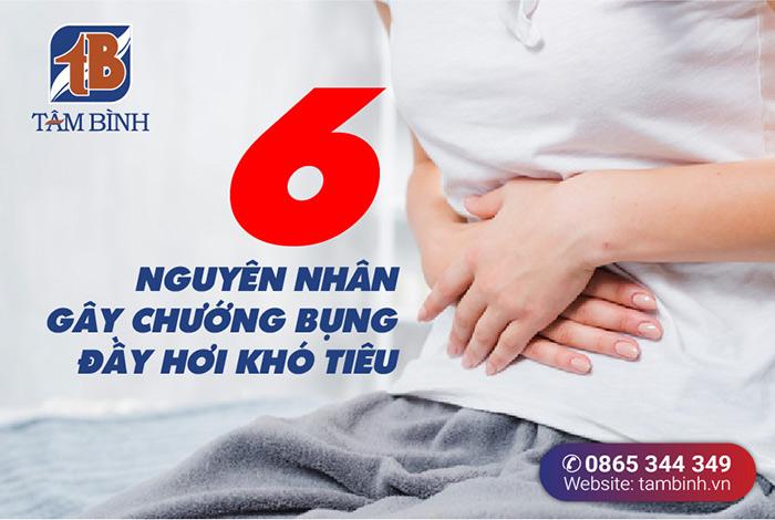 6 nguyên nhân gây chướng bụng