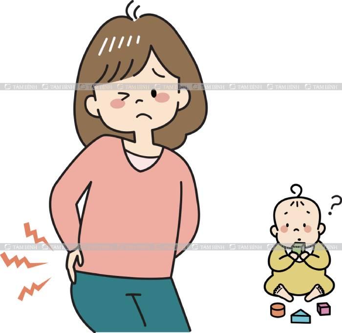 tình trạng đau lưng sau sinh