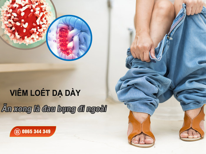 Viêm loét dạ dày là một trong những nguyên nhân gây đau bụng sau ăn