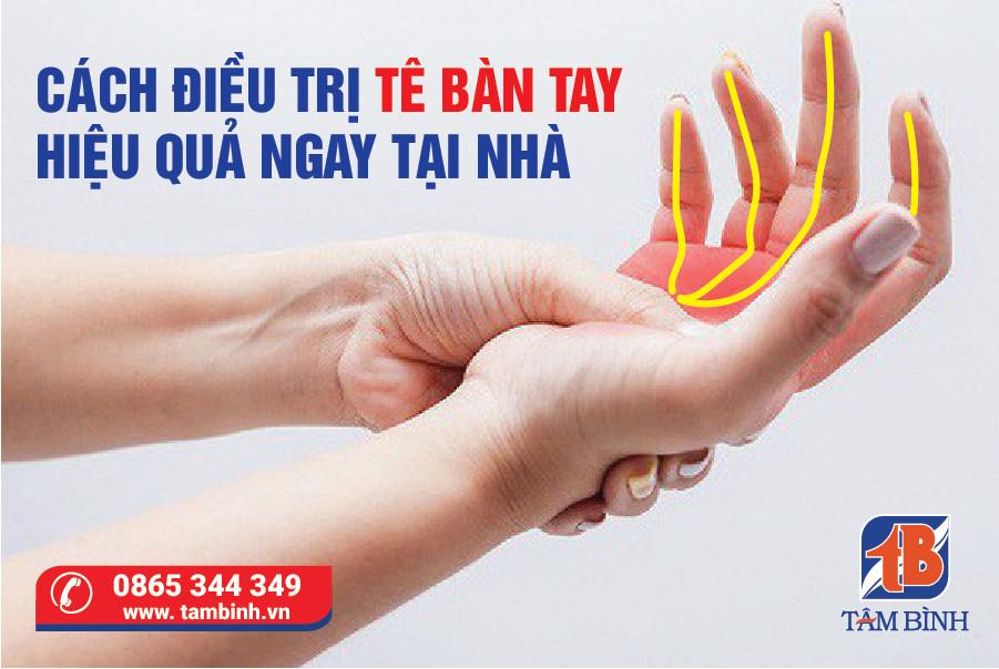 Điều trị tê bàn tay tại nhà