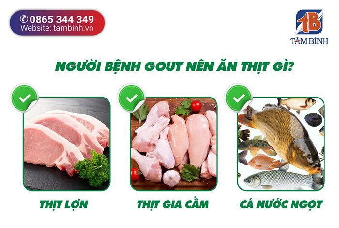 Người bệnh gout nên ăn thịt gì