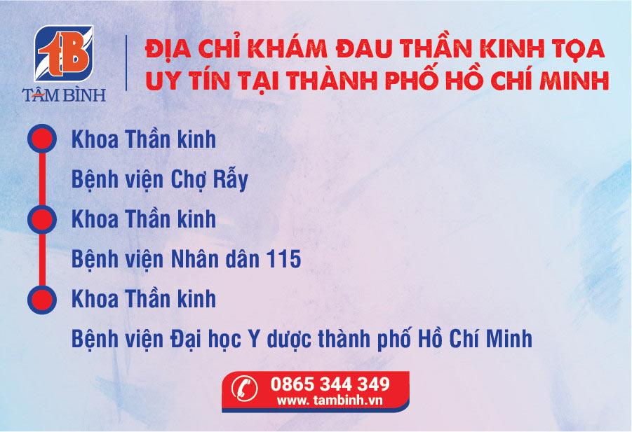 Địa chỉ khám đau thần kinh tọa thành phố Hồ Chí Minh