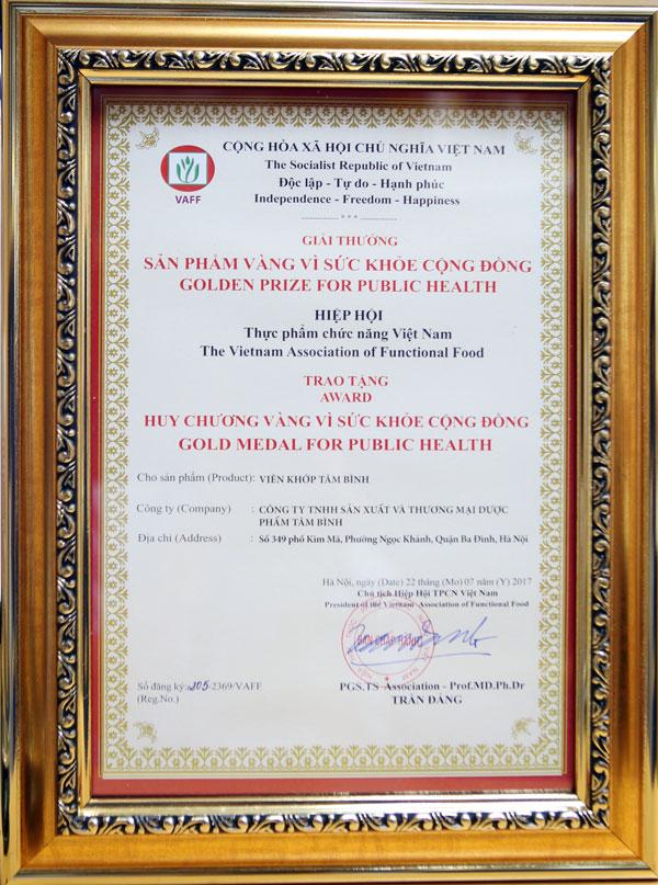 Giải thưởng Viên khớp Tâm Bình