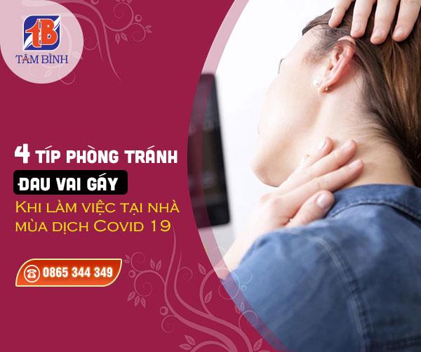 phòng tránh đau vai gáy khi làm việc ở nhà