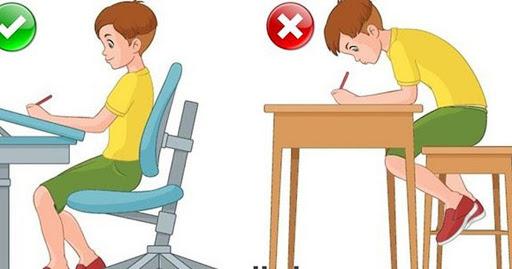 Trẻ bị vẹo cột sống do ngồi sai tư thế