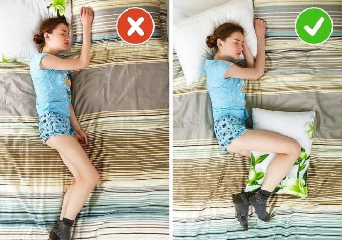 tư thế ngủ tốt cho người bị thoát vị đĩa đệm