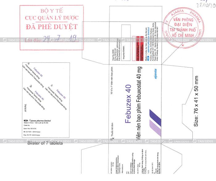 febuzex trị gout