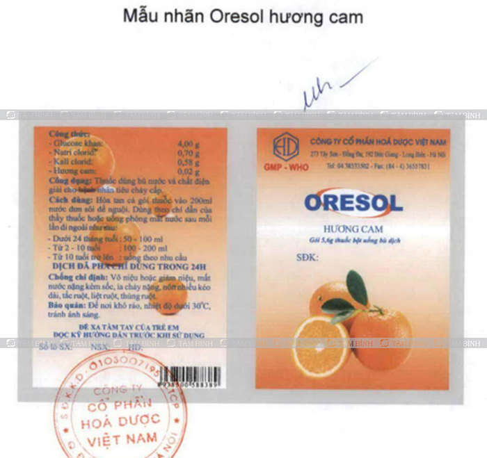 Oresol Hương cam