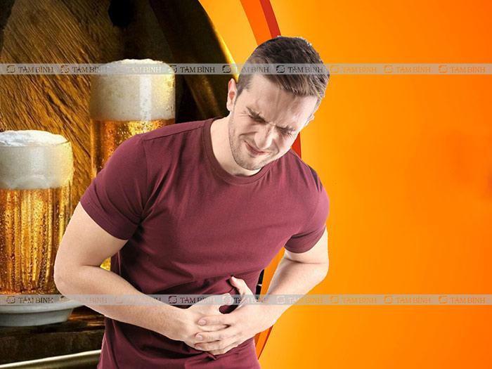 Sử dụng nhiều bia rượu gây nóng bụng khó chịu