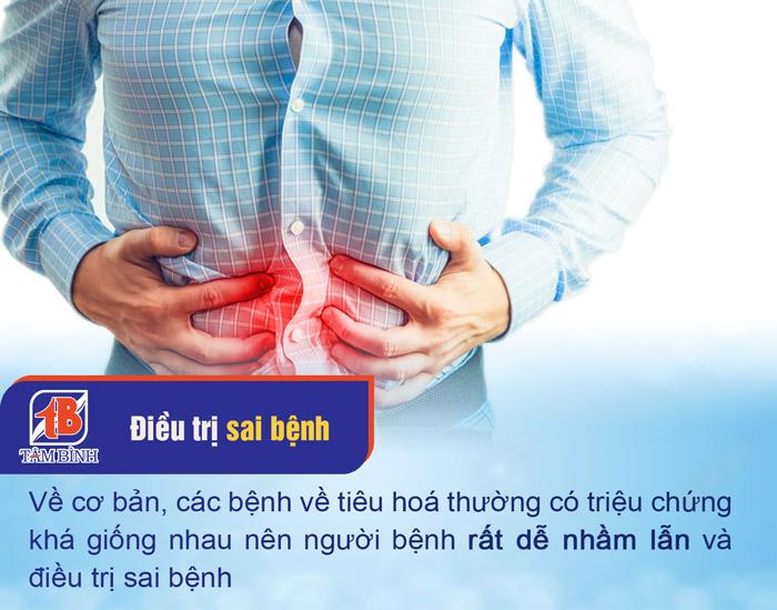 Bệnh viêm đại tràng rất dễ nhầm lẫn với các bệnh tiêu hoá khác
