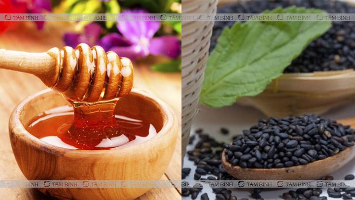 Kết hợp mật ong và mè đen