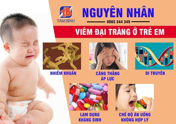 Một số nguyên nhân gây bệnh đại tràng ở trẻ