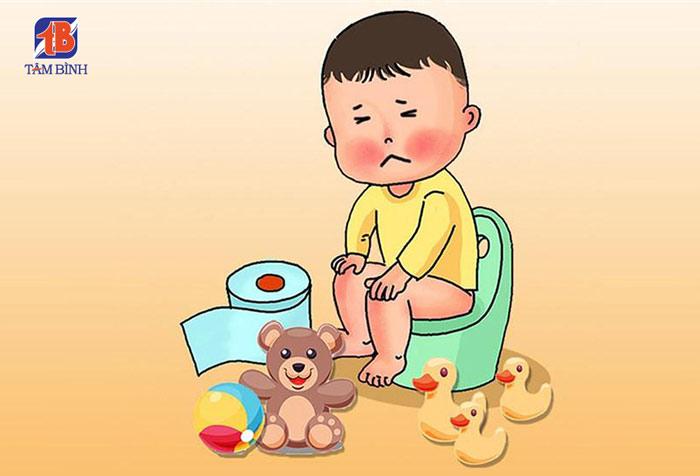 Tiêu chảy là một trong những biểu hiện viêm đại tràng ở trẻ