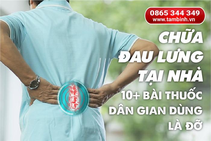 chữa đau lưng tại nhà