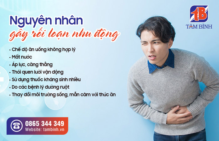 nguyên nhân gây rối loạn nhu động ruột