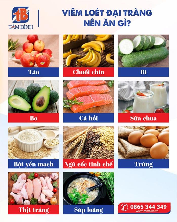 viêm loét đại tràng nên ăn gì?