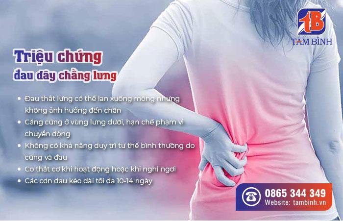 triệu chứng đau dây chằng lưng