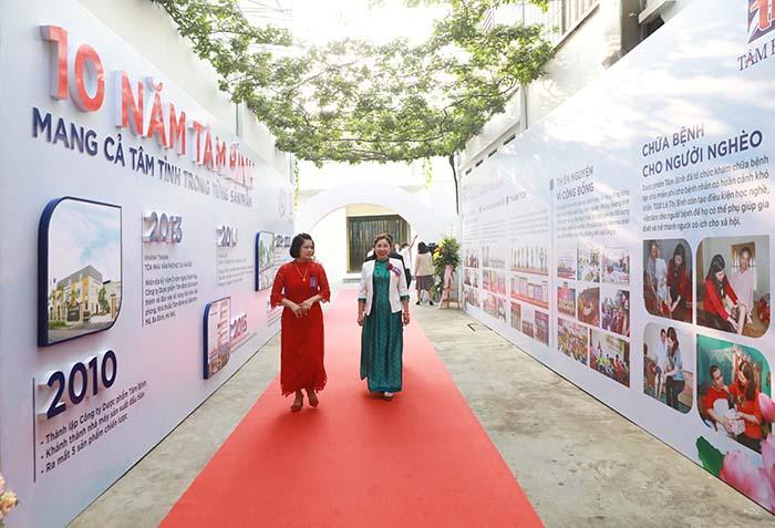 Con đường lịch sử ghi lại các dấu mốc trên chặng đường 10 năm phát triển của Tâm Bình