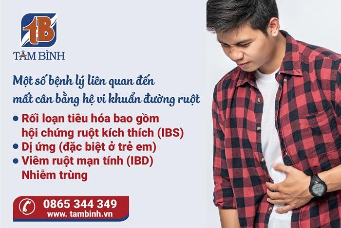 bệnh lý liên quan đến hệ vi khuẩn đường ruột