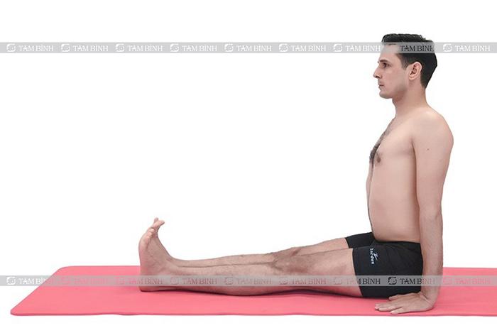 tư thế khởi đầu trong các bài tập yoga chữa đau thần kinh tọa