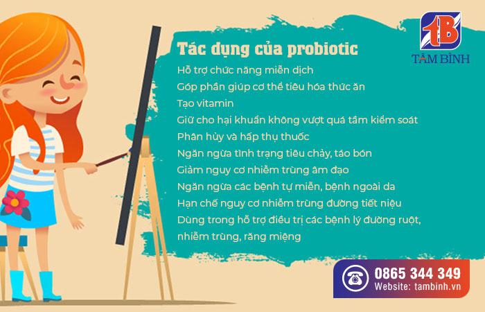 tác dụng của probiotic