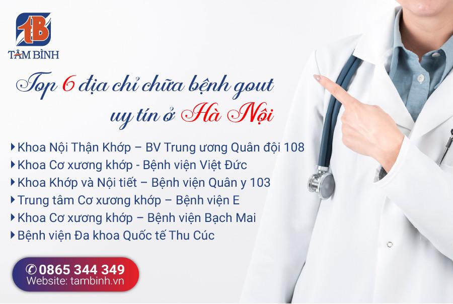 Địa chỉ chữa bệnh gout tại Hà Nội