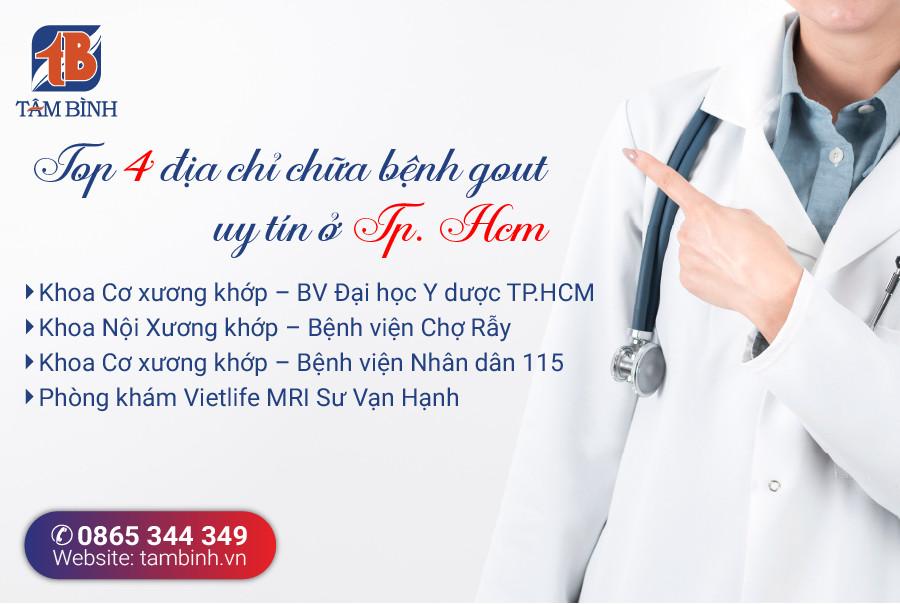 Địa chỉ chữa bệnh gout tại TP.Hồ Chí Minh