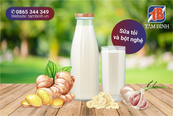 sữa tỏi và bột nghệ trị đau dây thần kinh tọa