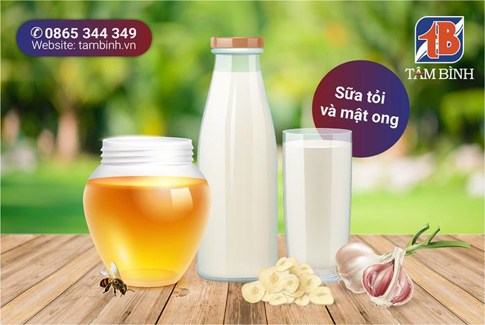 Sữa tỏi và mật ong chữa đau thần kinh tọa