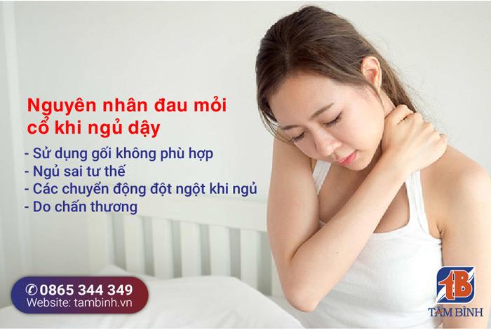 nguyên nhân ngủ dậy đau mỏi cổ